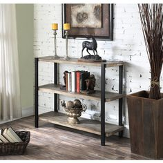 Shop for Convenience Concepts Wyoming Blue/Red/Brown Wooden 3-tier Console Bookcase. Get free shipping at Overstock.com - Your Online Furniture Outlet Store! Get 5% in rewards with Club O!