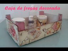 Caja de fresas decorada - YouTube