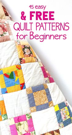 crafts diy 45 Free Easy Quilt Patterns perfect for the beginner quilter! PAK The post 45 Free Easy Quilt Patterns perfect for the beginner quilter! appeared first on Diy and crafts. Quilt Baby, Baby Patchwork Quilt, Patchwork Quilt Patterns, Beginner Quilt Patterns Free, Quilting For Beginners, Free Baby Quilt Patterns, Beginner Quilting, Baby Quilt Tutorials, Easy Patterns