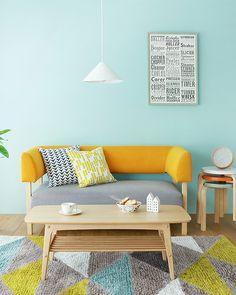 家具だけかと思いきや、配色でも変わってくる部屋の印象。6 畳インテリアアイデア