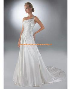 Billige Bodenlange Brautkleid 2013 aus Taft mit Kristall