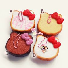 Hello Kitty Squishy Marble Toast Charm
