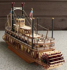 Artesania Latinas 1/80 scale riverboat paddle steamer King of the Mississippi.