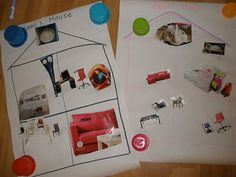 Use IKEA catalogs to teach furniture/rooms/prepositions - then label and write about Preschool Family, Preschool At Home, Preschool Themes, Preschool Education, Eyfs Activities, Family Activities, Geography Activities, Reception Class, Home Themes