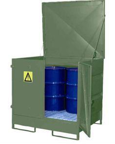 CUBETOS CERRADOS. VD4D. Capacidad de 4 bidones de 200 litros en vertical.
