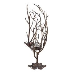 Sterling Industries Min 2-Birds Nest Candle Holder. The Sterling Industries Birds Nest is a traditional candle holder available in and Textured Gold Paint / Leaf Finish with Heavy Brown Antique Top Coat finish.