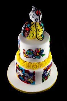 Romero Britto painted cake
