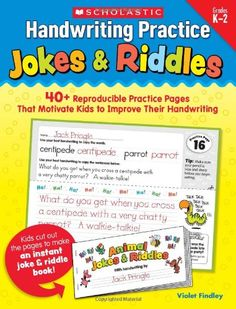 Handwriting Practice: Jokes & Riddles: 40+ Reproducible Practice Pages That Motivate Kids to Improve Their Handwriting: Violet Findley: 9780545227537: AmazonSmile: Books