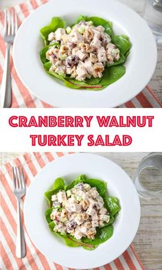 What to do with all the turkey leftovers from Thanksgiving? Make this Cranberry Walnut Turkey Salad! Made with cooked turkey, dried cranberries, walnuts, celery and mayo. You can add it to a bed of greens, use it in sandwiches, or just eat it as is!