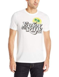 ecb78a67c4 Life Is Good Mens XL White Enjoy The Ride Palm Tree T-Shirt #LifeisGood  #GraphicTee