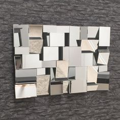Large Multi Faceted Mirror 120 x 80cm