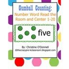 Gumball Counting is a 1-20 number word recognition activity. It starts with a read the room activity where the children will match the number word ...