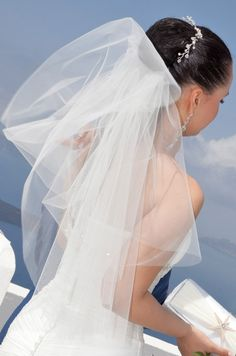 Bridal Veil #Santorini #weddings