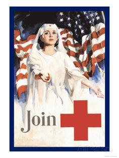 Join, American Red Cross Art Print
