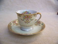 Noritake Libeau cup and saucer 4012 Japan by AntiqueAddictions Noritake, Cup And Saucer, Tea Cups, Japan, Unique Jewelry, Tableware, Handmade Gifts, Etsy, Vintage