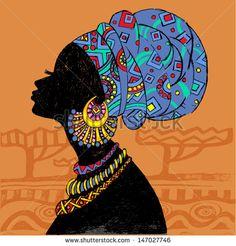 ideas african american black art afro for 2019 Arte Tribal, Tribal Art, Art Pop, Afrique Art, African Art Paintings, Black Art Painting, Art Premier, African American Art, Black Women Art