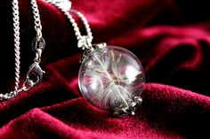 925 STERLING SILVER dandelion necklaces or necklace of jewelry alloy make a wish Pendant real seeds bride bridesmaids gift  Christmas (22.90 USD) by SweetyLifeShop