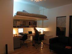 adult loft bed & desk