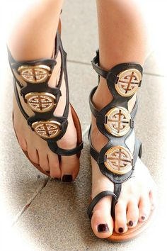 BLACK BURCH GLADIATOR SANDALS $39.99