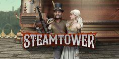 Speel een spanennede gokkast Steam Tower van Netent die geinspireerd door de 19e eeuwse Victoriaanse tijd en industrieel design. Je moet de toren beklimmen en de prinses van de draak redden!