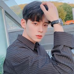 바람 그만불었으면😭 Hair sets are useless because of the wind. Korean Boys Hot, Korean Boys Ulzzang, Ulzzang Couple, Ulzzang Boy, Korean Men, Cute Asian Guys, Asian Boys, Handsome Kids, Bad Boy Style