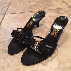 Salvatore Ferragamo Authentic Salvatore Ferragamo Woman's Dress Sandal. This sandal is pure class and elegance and will never go out of style. Only worn a few times and in great condition. Ferragamo Shoes Sandals