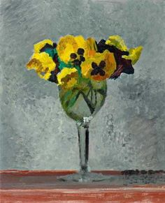 Cuno Amiet, Flowers in a wine glass