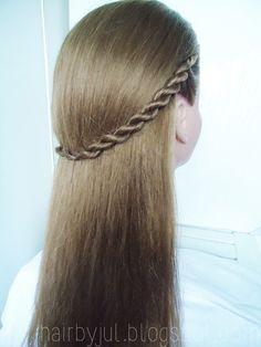 HAIR BY JUL- blog o włosach. Fryzury, tutoriale, inspiracje: Sposób na kucyka- rope braid krok po kroku