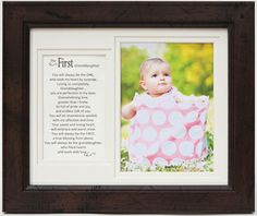 First Granddaughter 8x10 Frame - The Grandparent Gift Co.