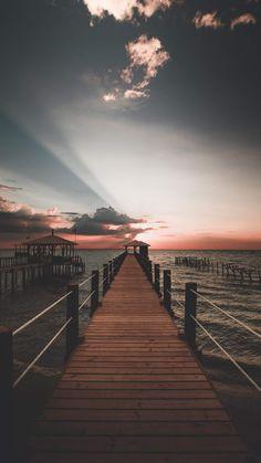 Sunrise • Photography • Sea •  Awsome • Lovely • Peaceful • Wallpapers • Backgrounds • Lock Screen #Sunrise #Sea #Peaceful #Wallpaper #Background #LockScreen #IncredibleAsif Railroad Tracks, Backgrounds