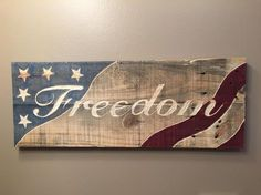 "Hand Engraved Wooden Sign - ""Freedom"" Wood Sign - Reclaimed Wooden Sign by FirePitWoodWorks on Etsy"