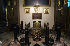 Tomb of Mikhail Kutuzov, Field Marshal of the Russian Empire, who stopped Napoleon at Borodino