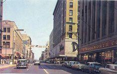 Nicollet Avenue at 7th Street, Minneapolis Minnesota, 1950's