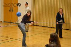 Human Foosball - looks like fun.  Would be fun for youth groups.