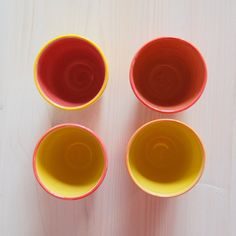 Colorful espresso cups handmade  espresso cups by PotsbyNives