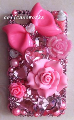 Bling Cute iPhone 5 Case Sweet Pink Barbie iPhone by cellcaseworks wish I had an iphone