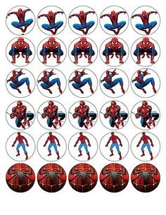 30 X SPIDERMAN TOP QUALITY EDIBLE WAFER/RICE PAPER CUP CAKE TOPPERS  in  | eBay!