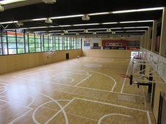 Un'altra prospettiva della palestra del #Brose Basket durante le fasi di #tracciatura