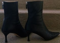 GUCCI Black Leather Stiletto Ankle Boots. by loveusati on Etsy