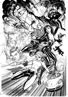 Danger Girl 10th Anniversary Lithograph Original Artwork Comic Art - J Scott Campbell