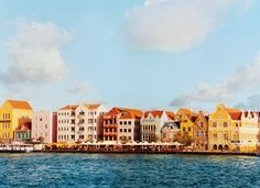 Willemstad's historic districts are the focus of restoration efforts and include these seventeenth- and eighteenth-century merchants' houses on Handelskade, in the Punda area.