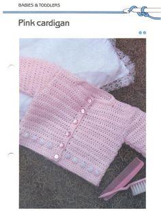 Pink Cardigan free crochet pattern