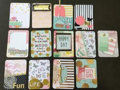 Beautiful pink mint gold handmade project life by CodisCustomCards