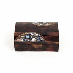Vintage Bone and Abalone Inlay Box $255 - Available @ Cavalier by Jay Jeffers #cavalier #cavaliergoods #vintage #inlay #bone #abalone #box