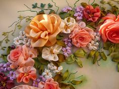 A magnificent Rose Wreath by Lyudmila Deineko from Perm in Russia Lots of how-to on this blog