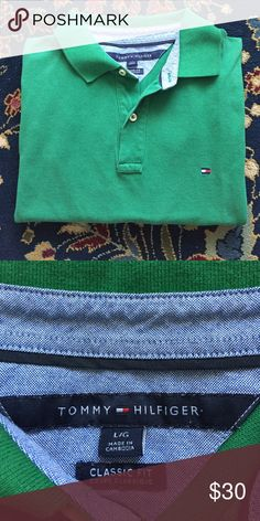 """Tommy Hilfiger Polo Men's Classic and simple. The style, comfort and quality you expect from Tommy Hilfiger. In excellent condition with no issues. 24"""" underarm to underarm and 27.5"""" L Tommy Hilfiger Shirts Polos"""