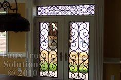 faux iron door insets