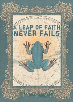 A Leap of Faith....    beautiful items on www.papayaart.com