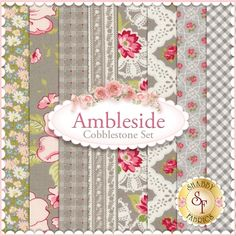 Ambleside 8 FQ Set - Cobblestone by Brenda Riddle for Moda Fabrics: Ambleside is a collection by Brenda Riddle for Moda Fabrics. 100% Cotton. This set contains 8 fat quarters, each measuring approximately 18