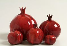 CLAY POMEGRANATE Figurine, Home Decor - maybe add a canvas print of pomegranates to our kitchen